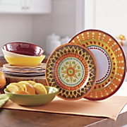 12-Piece Melamine Dinnerware Set