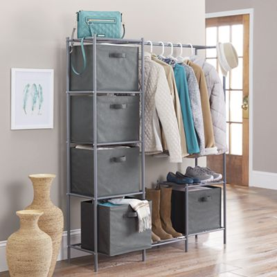 Wardrobe with Storage Bins