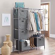 Wardrobe with Storage Bins