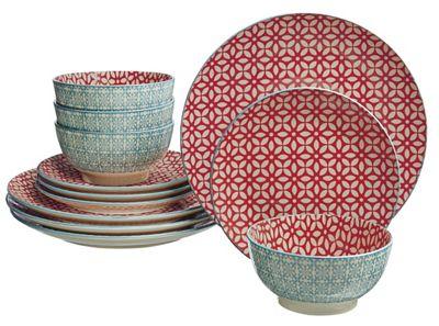 12-Piece Ceramic Dinnerware Set