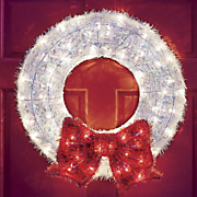 Lit White Wreath