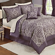 Oxford Jacquard 10-Piece Bed Set and Window Treatments