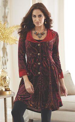 Paisley Velvet Coat
