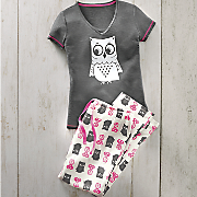 Women's Hoot Goes There PJ Set