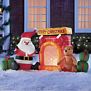 Inflatable Santa Fireplace