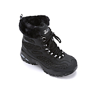 D'Lite Lace-Up Boot with Faux-Fur Collar by Skechers
