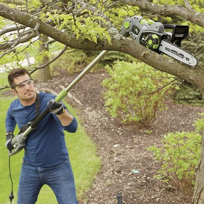 4-In-1 Corded Convertible Pole Chainsaw and Hedge Trimmer by Earthwise