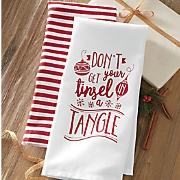 2 pc  tinsel tangle dishtowel set