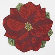 poinsettia indoor outdoor mat   36  diam