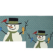 snowman and friends indoor outdoor mats