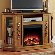 entertainment storage fireplace