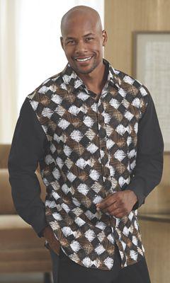 Diamond Pattern Shirt by Steve Harvey