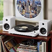 modern bluetooth stereo turntable with 50 watt speakers