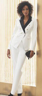 Aretha Satin Collar Tuxedo