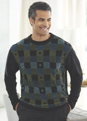 Chenille Block Pattern Sweater by Steve Harvey