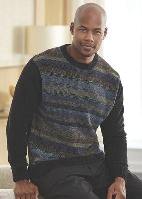 Chenille Stripe Sweater by Steve Harvey