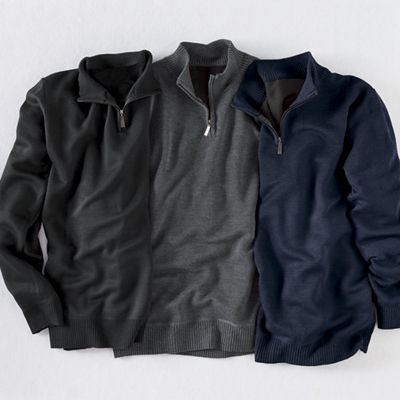 Men's 3-Pack 1/4-Zip Sweater