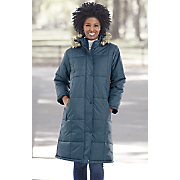 Long Box-Quilted Coat by Totes