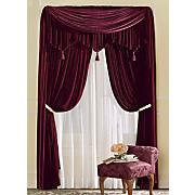 woven velvet curtains
