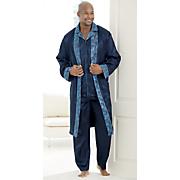 Men's Satin Pajama Set and Satin Robe by Steve Harvey