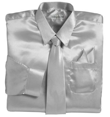 Satin Shirt/Tie/Pocket Square