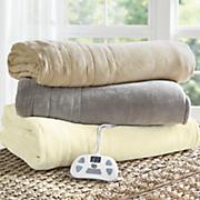 comfort plush electric warming blanket by serta