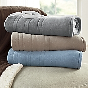 heated fleece sherpa throw by serta