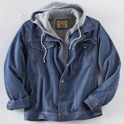 Men's Denim Jacket with Hood