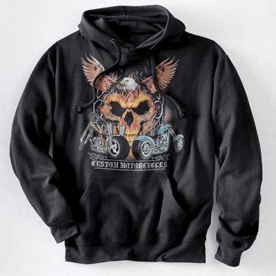 Men's Eagle Skull Rides Hoodie