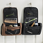 U-Zip Hanging Leather Travel Kit by Buxton
