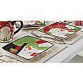 4-Piece Happy Snowman Plate Set