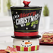 Magic Hat Snowman Cookie Jar