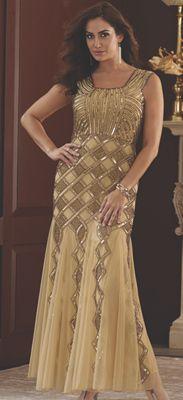 Mara Gold Beaded Dress