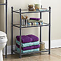 Metal & Glass Bathroom Shelf