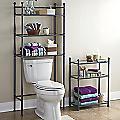 Metal & Glass Bathroom Space Saver