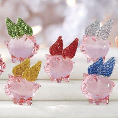 7-Piece Mini Flying Pig Set