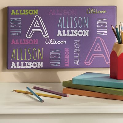 Personalized Kid's Name Canvas