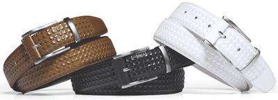 Men's Diamond Embossed Leather Belt by Stacy Adams
