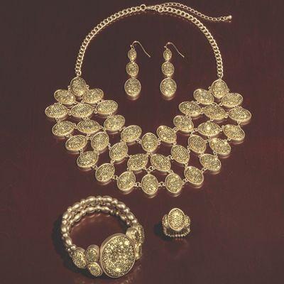 Oval Glitter Jewelry