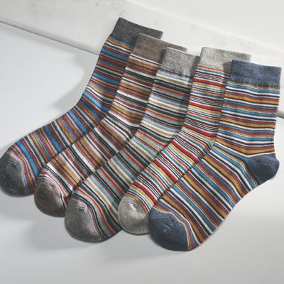 5-Pair Men's Striped Socks