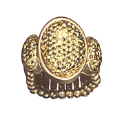 oval glitter stretch ring
