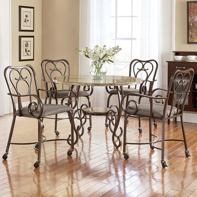 Scroll Dining Table & Chairs