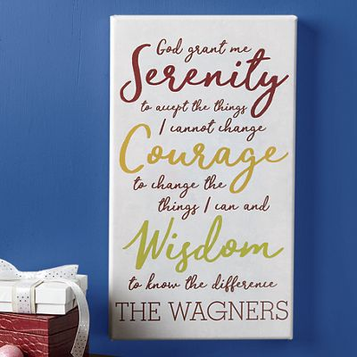 Personalized Family Serenity Wall Art