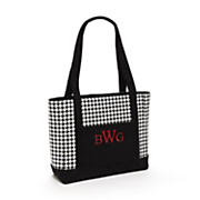 Monogrammed Houndstooth Tote