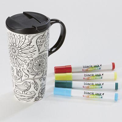 Coloring Nature Travel Mug
