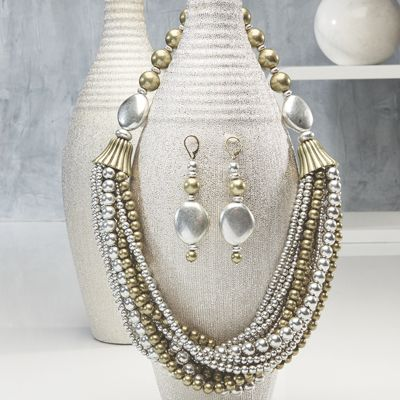 Two-Tone Multistrand Necklace