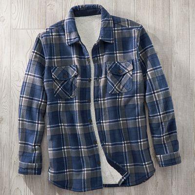 Men's Fleece/Sherpa Shirt Jacket