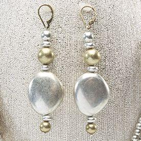 Two-Tone Multistrand Earrings