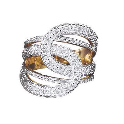 Diamond Double Loop Ring