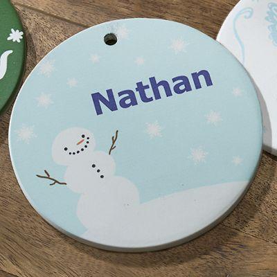 Snowman Personalized Ornament